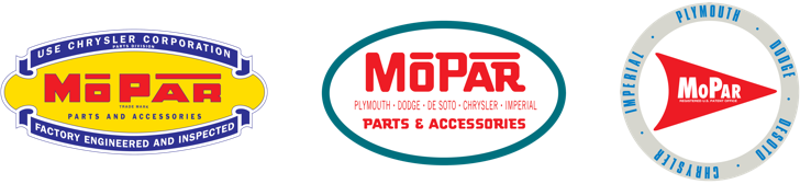 Mopar logos of 1940s to 1950s