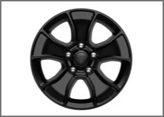 17-Inch Black Off-Road Wheel